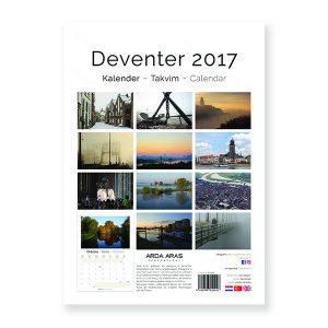 digitaal voorbeeld van de achterkant van de Deventer kalender 2017