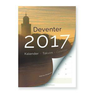 digitaal voorbeeld van de voorkant van de Deventer kalender 2017